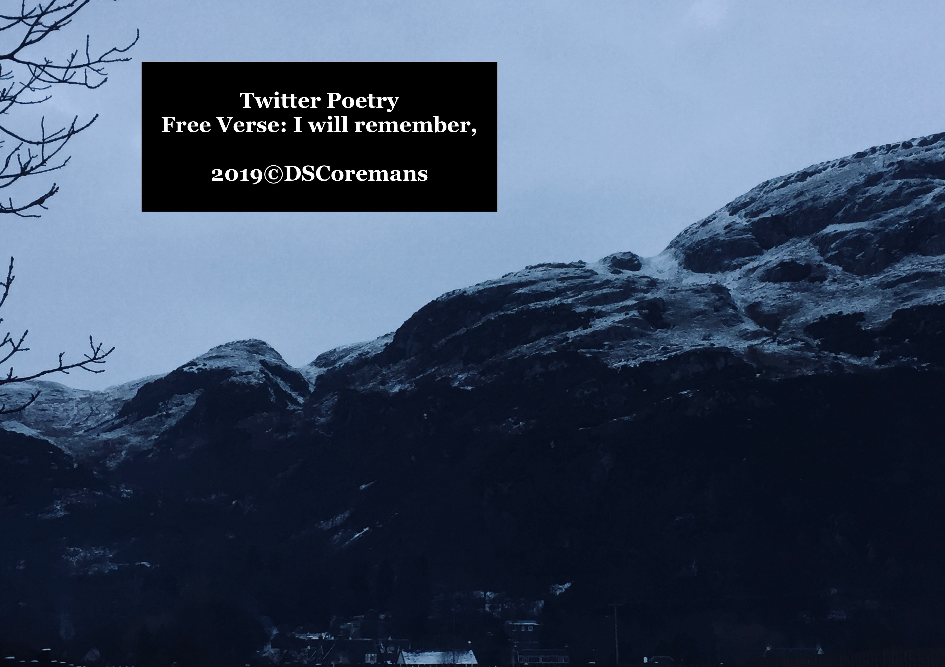 Free Verse: I will remember,